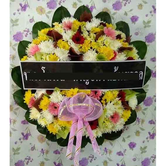 พวงหรีดดอกไม้สด รหัส8504