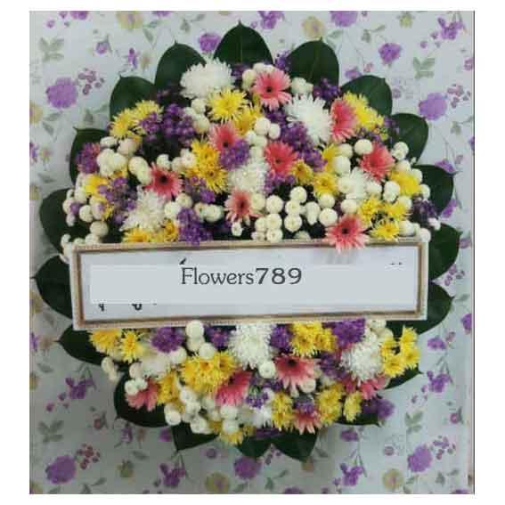พวงหรีดดอกไม้สด รหัส8505