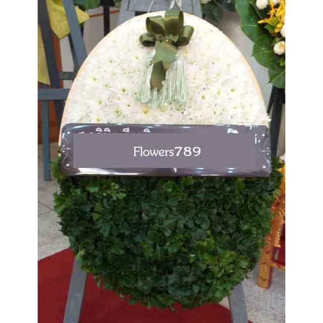 พวงหรีดดอกไม้สด รหัส8508